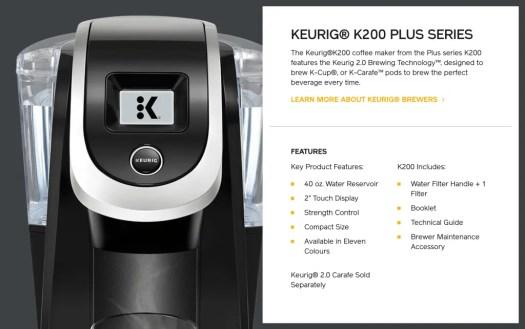 Kick Up Your Coffee Game with Van Houtte and the Keurig K200 PLUS! — Keurig K200 PLUS Machine