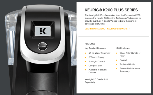 Kick Up Your Coffee Game with Van Houtte and the Keurig K200 PLUS! — Keurig K200 PLUS Machine