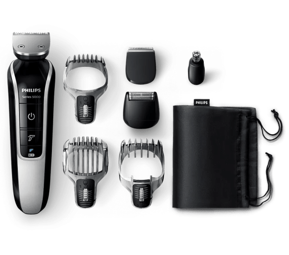 Upgrade Your Shave with the Philips MultiGroom 5000!—The Philips MultiGroom 5000, its Combs and Attachments