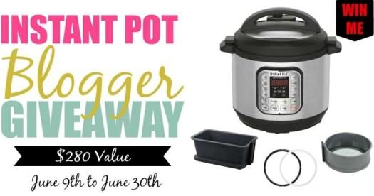 An Instant Pot Blogger Giveaway! — Instant Pot Blogger Giveaway Facebook