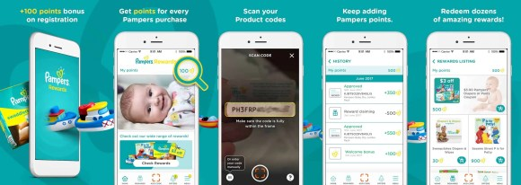 Earn Points with Less Taps—The BRAND NEW Pampers Rewards App!—How to Use the Pampers Rewards App