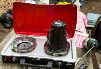 Better Camping with Coleman — The ONLY Way To Do It! — Coleman HyperFlame FyreCadet Camping Stove — In Action