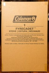 Better Camping with Coleman — The ONLY Way To Do It! — Coleman HyperFlame FyreCadet Camping Stove — In the Box