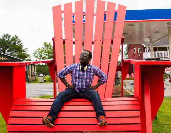 Thirty-Four—Becoming the Man I've Been Looking For—Casey Sitting on a Giant Muskoka Chair