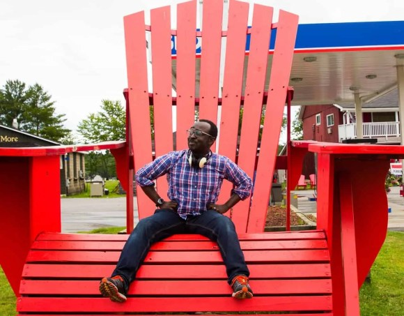 It's a Ford. #FordSummer. (Checking out the Ford Canada SUV Line in Muskoka!)—Casey Palmer Chillin' in a Muskoka Chair