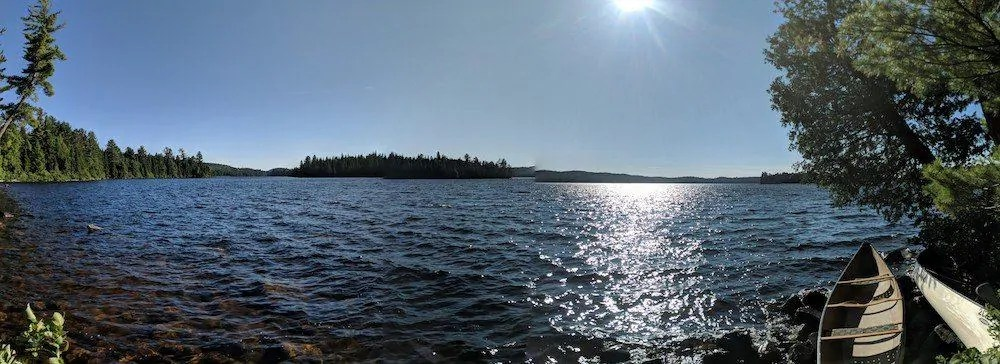 For the Love of Camping, Part Two — A Man and the Mountain that CHANGED Him. — Lake Opeongo Panorama`