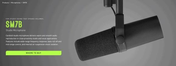 Shure SM7B Studio Microphone