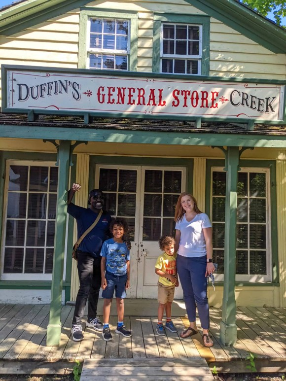 Pickering Museum Village | The Palmer Family in front of Duffin's Creek General Store
