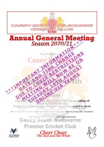 Read more about the article AGM : date and Venue Change