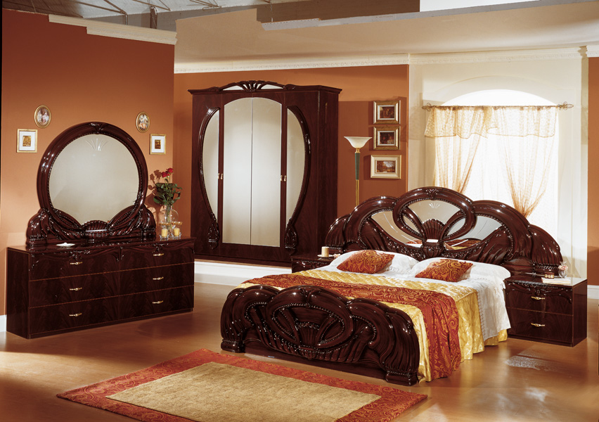 giada 4d italian bedroom mahogany set