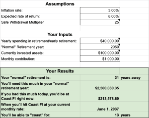 Calculator 42 - Cashflow Cop Police Financial Independence