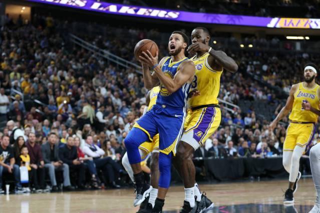 Lakers Warriors Preseason