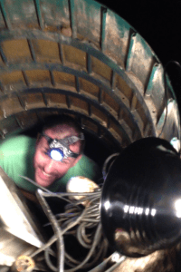 me in the septic tank at newtown
