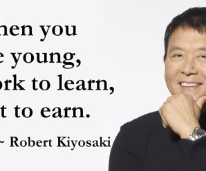 Work to learn, not to earn