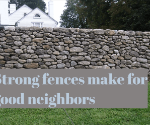 A strong fence makes for good neighbors