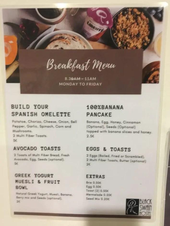Breakfast, Swan, Hostel, Free, Review