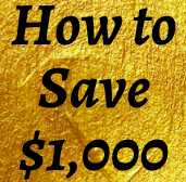 How to Save $1,000 a month