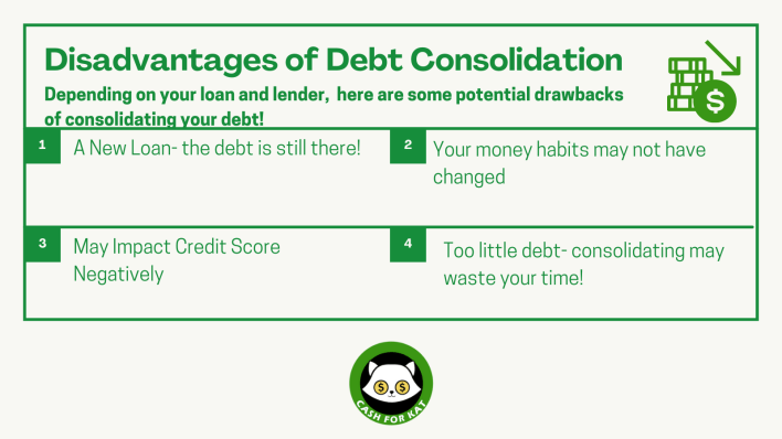 Disadvantages of debt consolidation