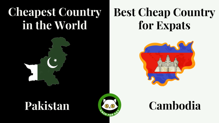 cheapest countries to live in: pakistan and cambodia