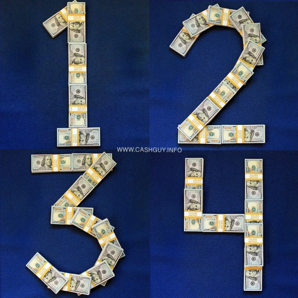 Numbers Made of Money Stacks!