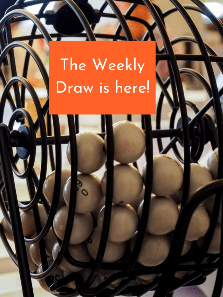 The Weekly Draw is Here!!