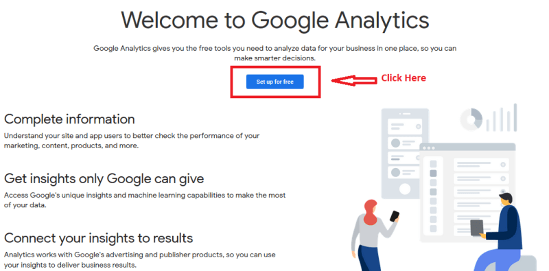 01 google analytics sign up 1024x505 - Google Analytics and Google Search Console: Explanation and Set up