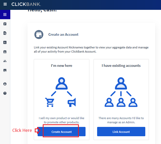 08 new account - Step by Step guide to create ClickBank Affiliate Account