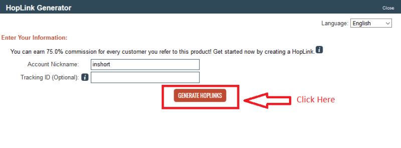 16 hoplink - Step by Step guide to create ClickBank Affiliate Account