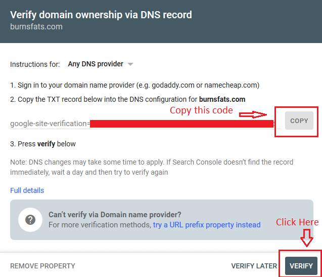 gsc verification - Google Analytics and Google Search Console: Explanation and Set up