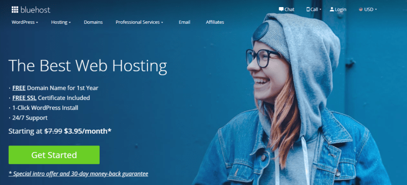 bluehost web hosting 1024x467 - Bluehost Review (2020) | Simple Guidance For You In Bluehost
