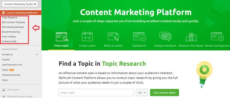 semrush content marketing toolkit dashboard - Learn The Truth About SEMrush Content Marketing Toolkit