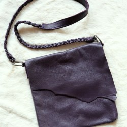 Eggplant Raw Edge Side Bag