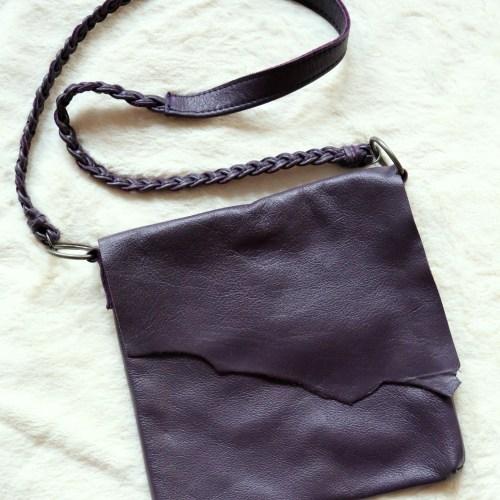 Eggplant Raw Edge Side Bag