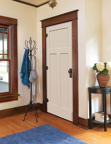 Cream Door with darker trim