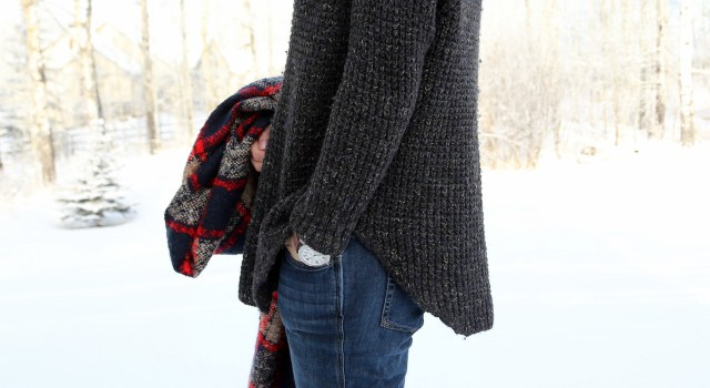 Thick Knits and Plaid