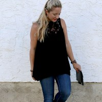 GF Black Lace Top