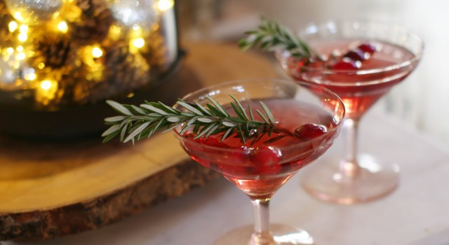 Rosemary Cranberry Fizz