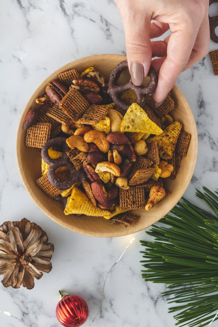 Homemade Chex Mix - Cashmere & Cocktails