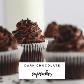 Dark Chocolate Cupcakes Recipe - Cashmere & Cocktails
