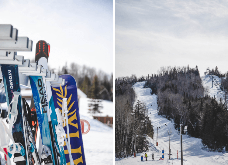 Skis and ski slopes at Sugarloaf Provincial Park