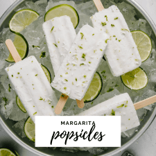 Margarita popsicles over a bowl of ice.