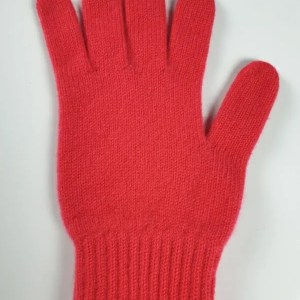 product image for a pair of neon red pure cashmere gloves made in Scotland - 600x800 - product id:911 - cashmereglovesandscarves.co.uk