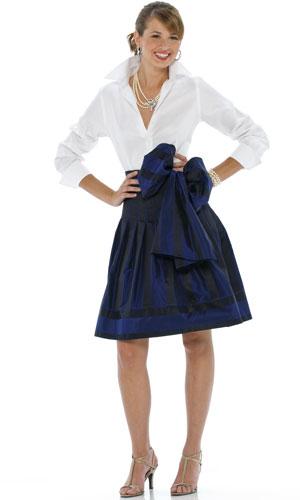 White Shirt with Skirt