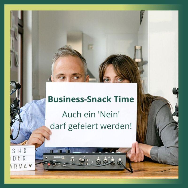 Business-Snack Auch ein Nein darf gefeiert werden