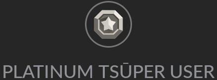 Platinum Tsuper User Badge