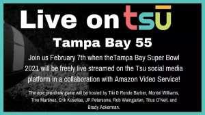 Super bowl live streaming on tsu social network