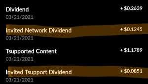 Tsu Referral dividends