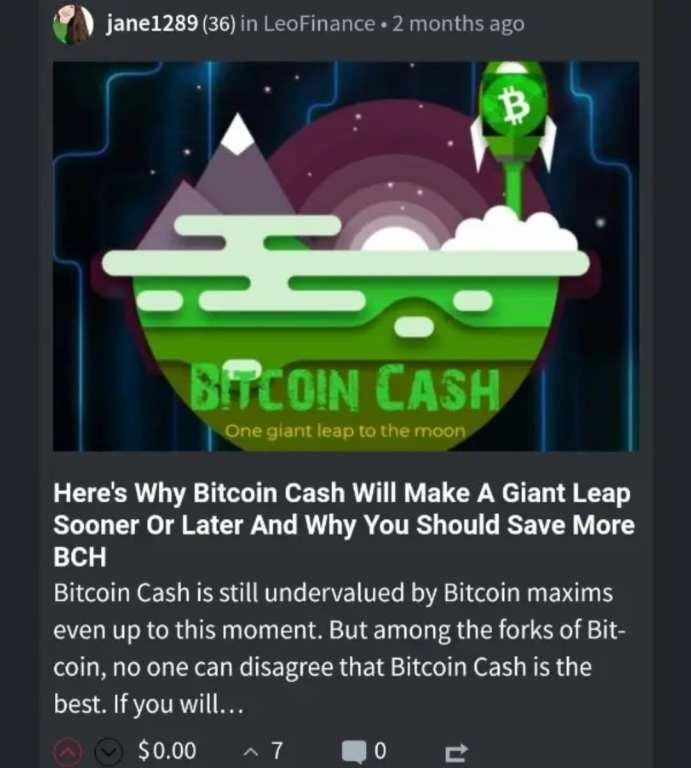 LeoFinance Bitcoin Cash