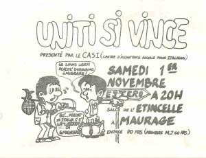 UNITI SI VINCE 1972