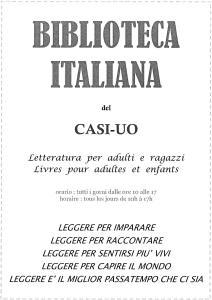 BIBLIOTECA ITALIANA del CASI-UO 2005